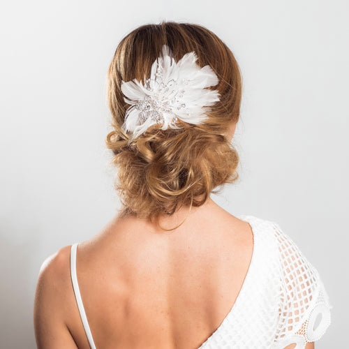 Seraphina feather hairpiece