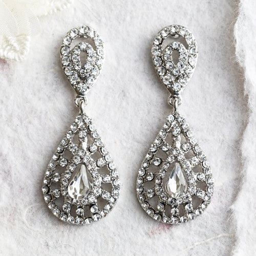 Simone crystal earrings