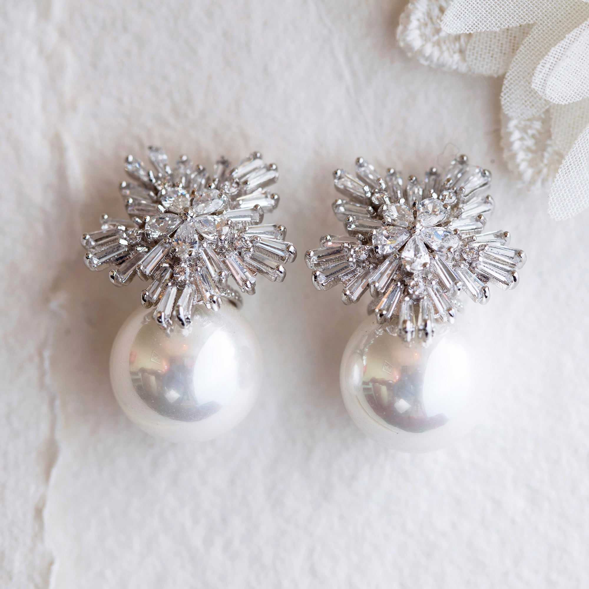 Sooki crystal and pearl earrings