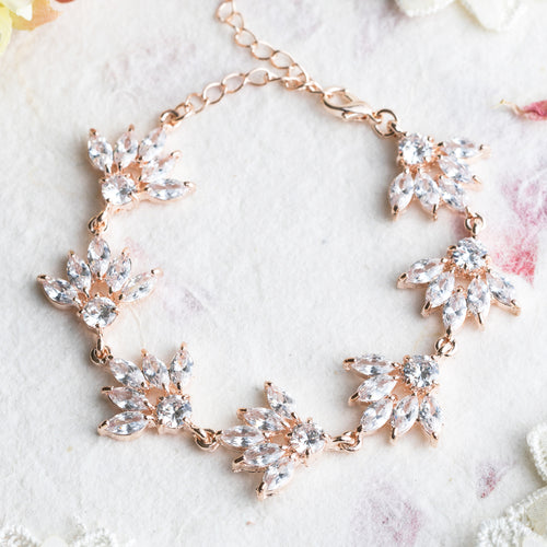 Stephanie crystal and rose gold bracelet