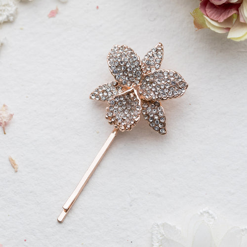 Suhani crystal rose gold hair slide