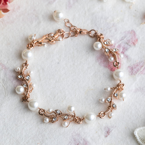 Suki crystal and rose gold bracelet