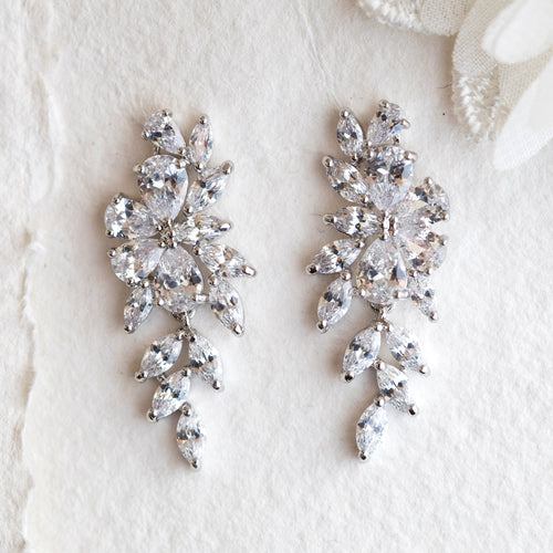 Tanvi crystal drop earrings