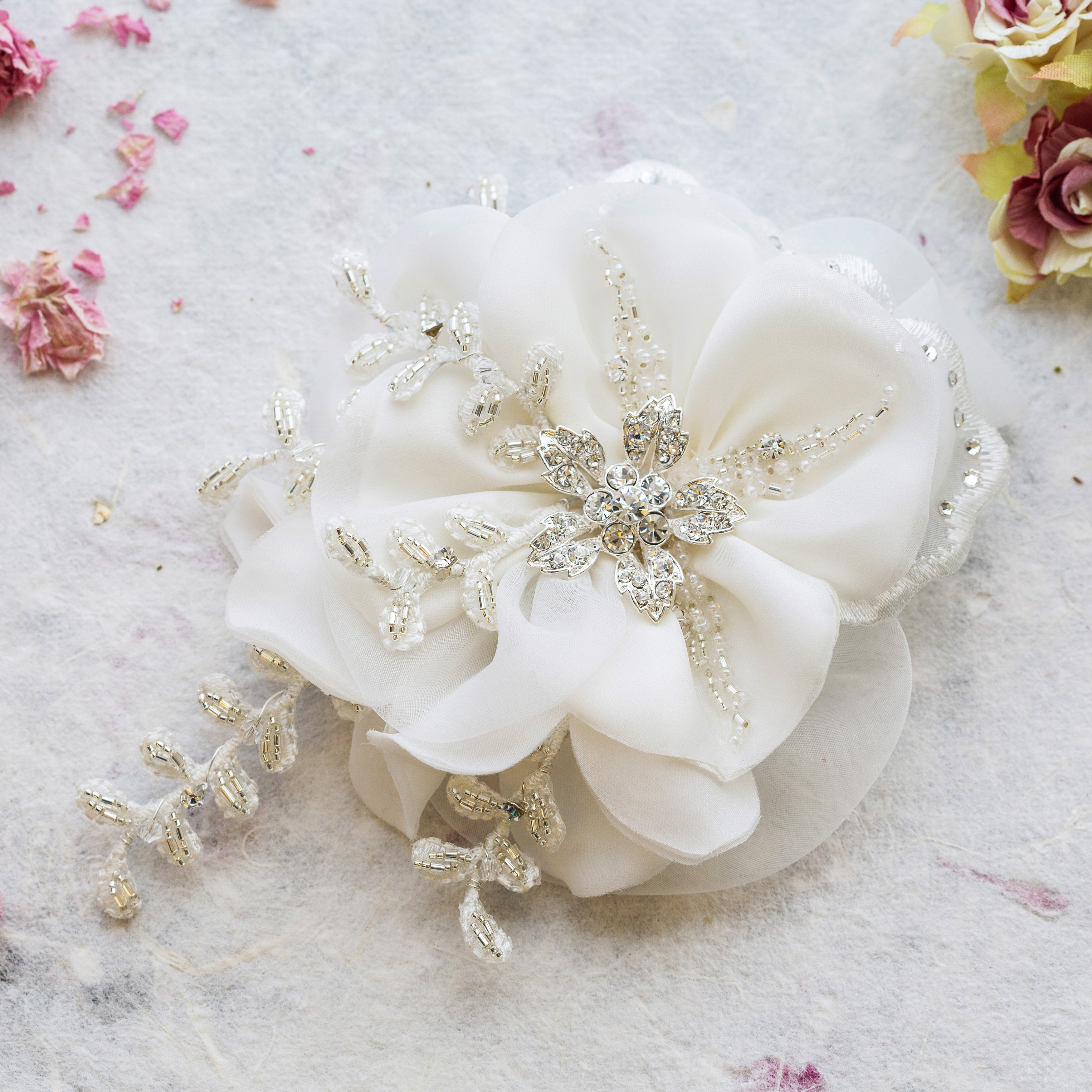 Verity silk hairpiece