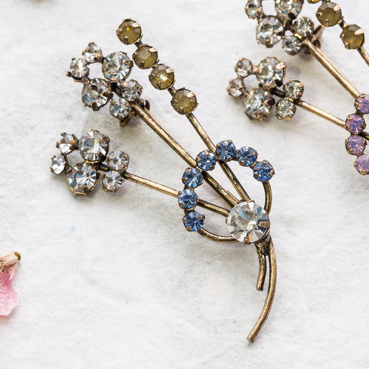Rachel blue crystal brooch