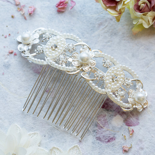 Willow crystal hair comb