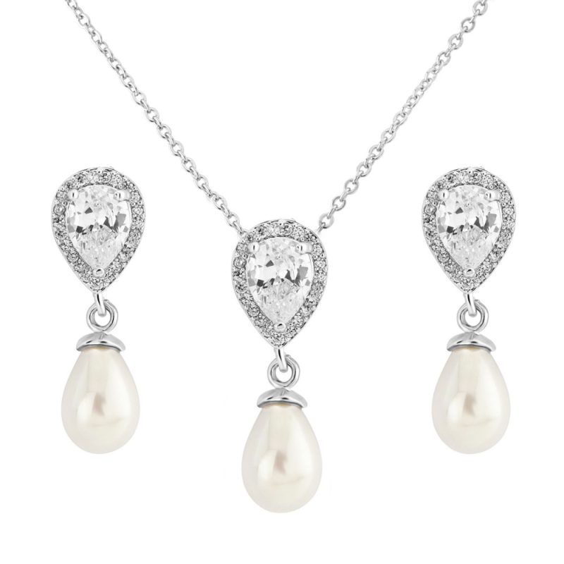 Hettie pendant and earring set