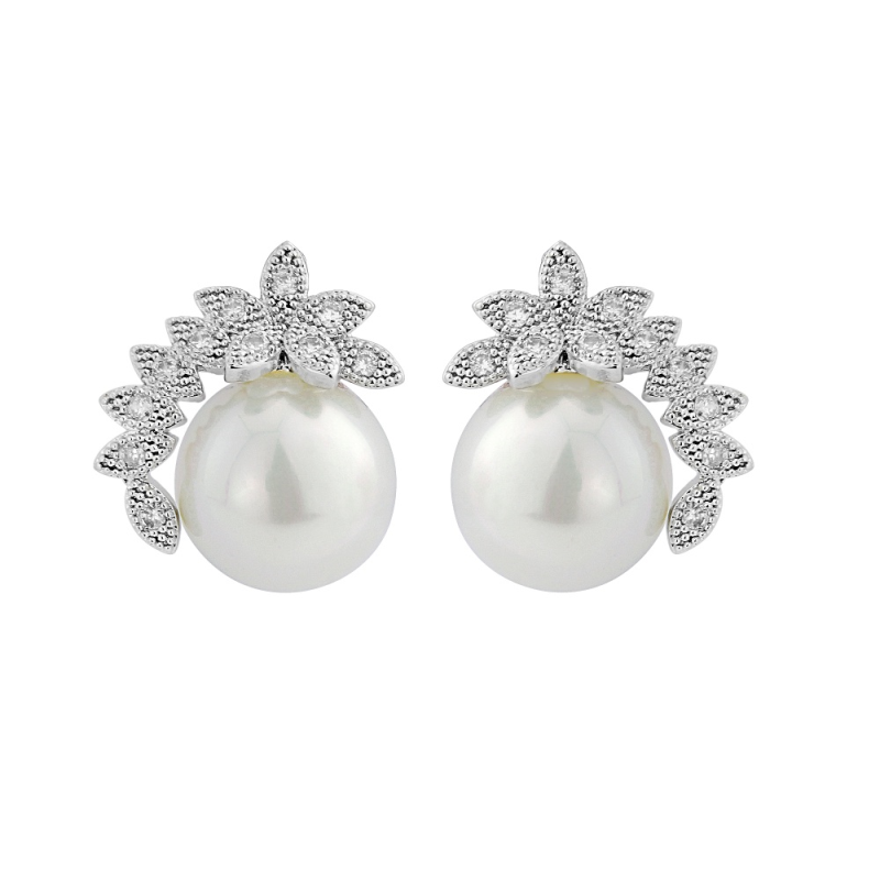 Fran crystal and pearl earrings