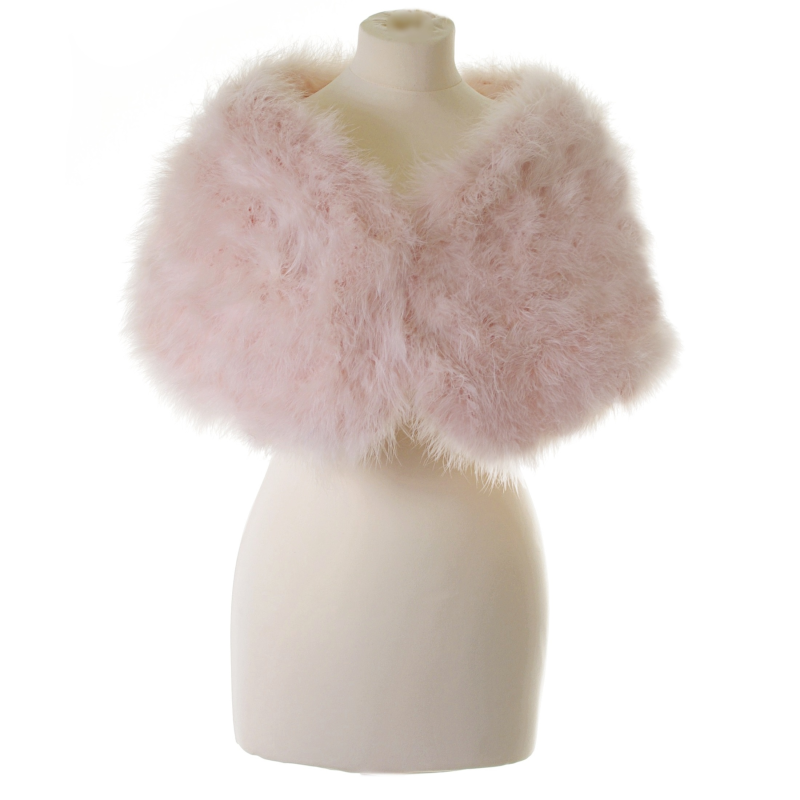 Baby pink marabou feather wrap