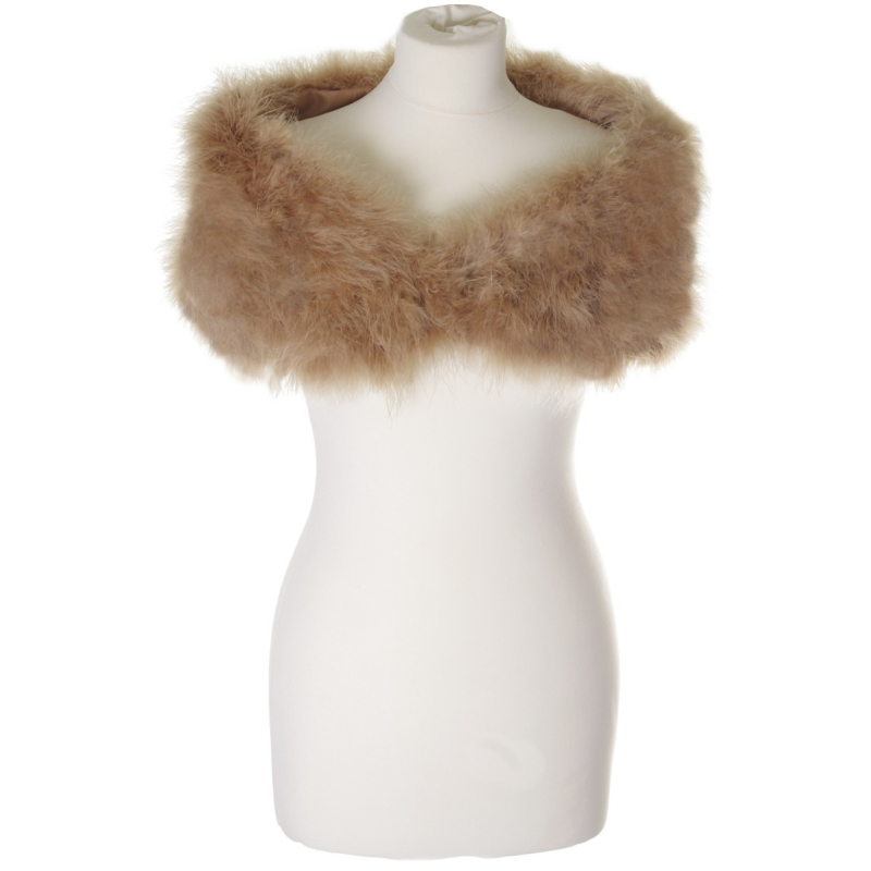 Champagne marabou feather stole