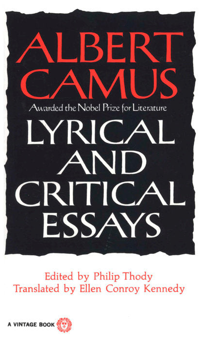 Lyrical and Critical Essays by Albert Camus