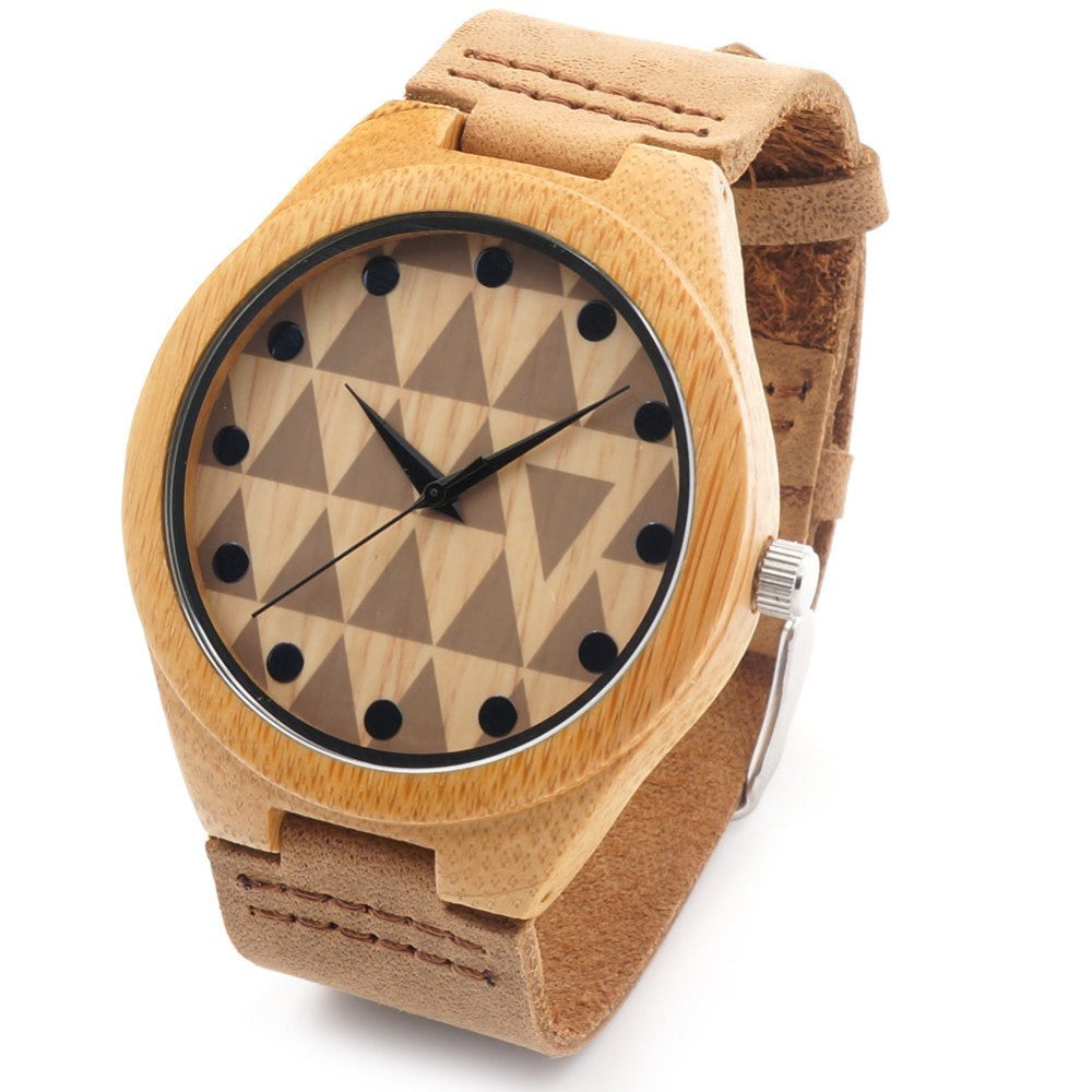 mens bamboo luxury with real brand watches bobo wooden in leather watch image gift bird itm loading quartz is