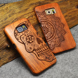 100% Natural Wood Case for iPhone 7 5 5s 6 6s Plus for Samsung Galaxy S5 S6 S7 Edge Plus Note 7 5 4 3