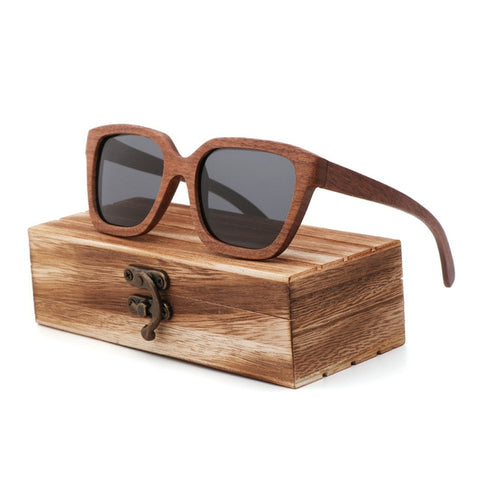 New bamboo black walnut  sunglasses