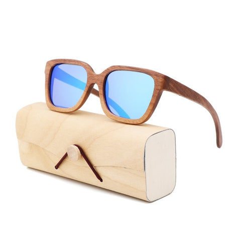 New bamboo black walnut wood sunglasses