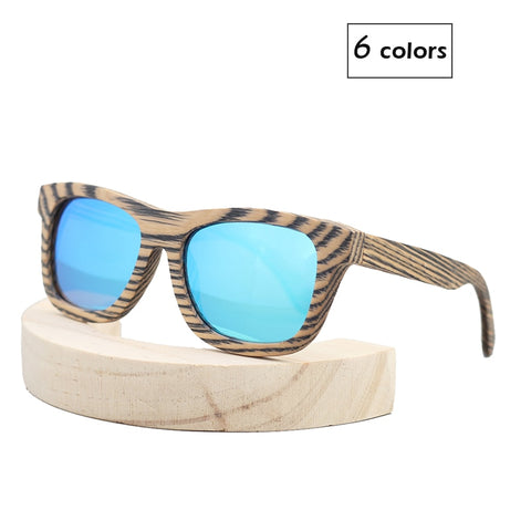 New  Zebra Grain bamboo sunglasses