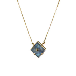 Squared Gold Pin Necklace