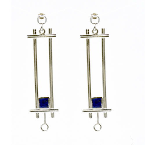 Squared Lapis Lazuli Earrings