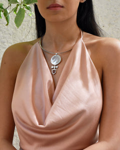 Geo Necklace in Mother of Pearl