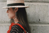 One-Sided Circular Hoop Earrings