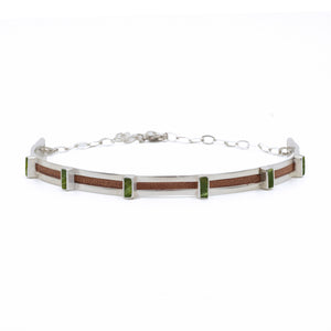 Hexa Choker in Brown Leather