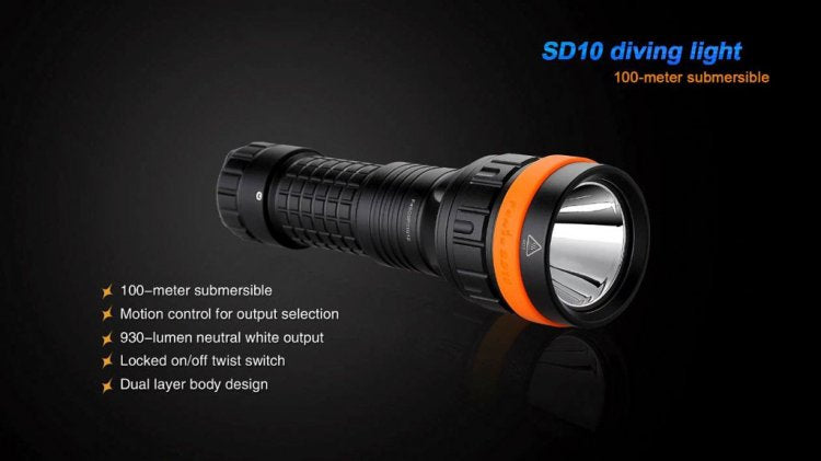 FENIX SD10 DIVE LIGHT