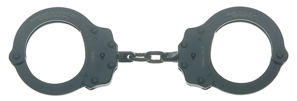 PEERLESS Model 701CB - Chain Link Handcuff - Black Oxide Finish