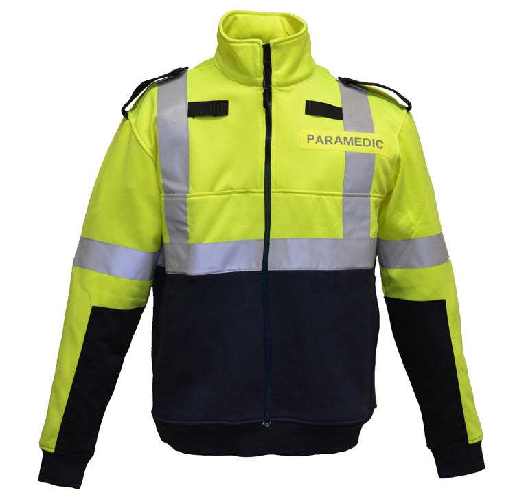 High Visibility Full Zip Soft shell Fleece PARAMEDIC