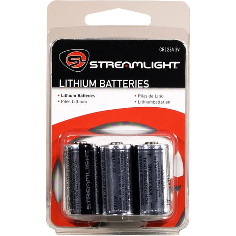 STREAMLIGHT CR123 Batteries 6 Pk