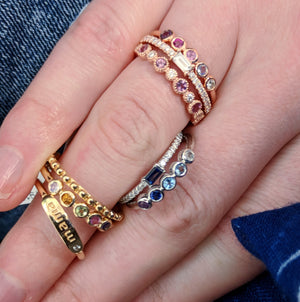 Assorted ring stacks with kenzie