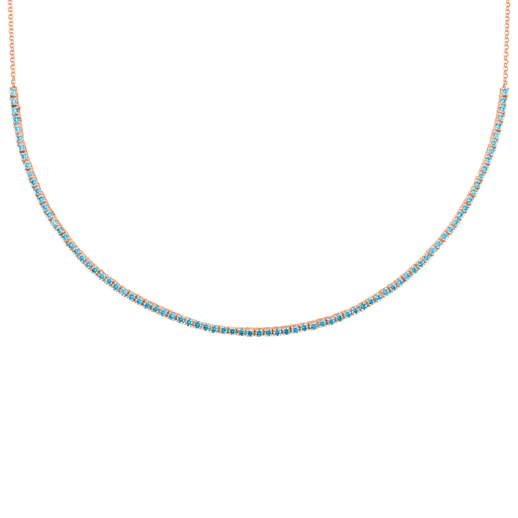 The Pixie Necklace (Blue Topaz)