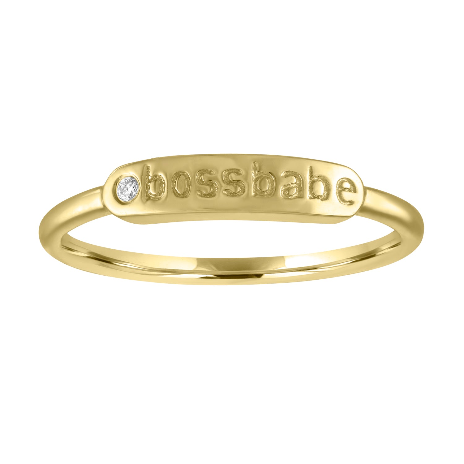 "The Twiggy -  Skinny Signet ""BOSSBABE"" (Diamond)"