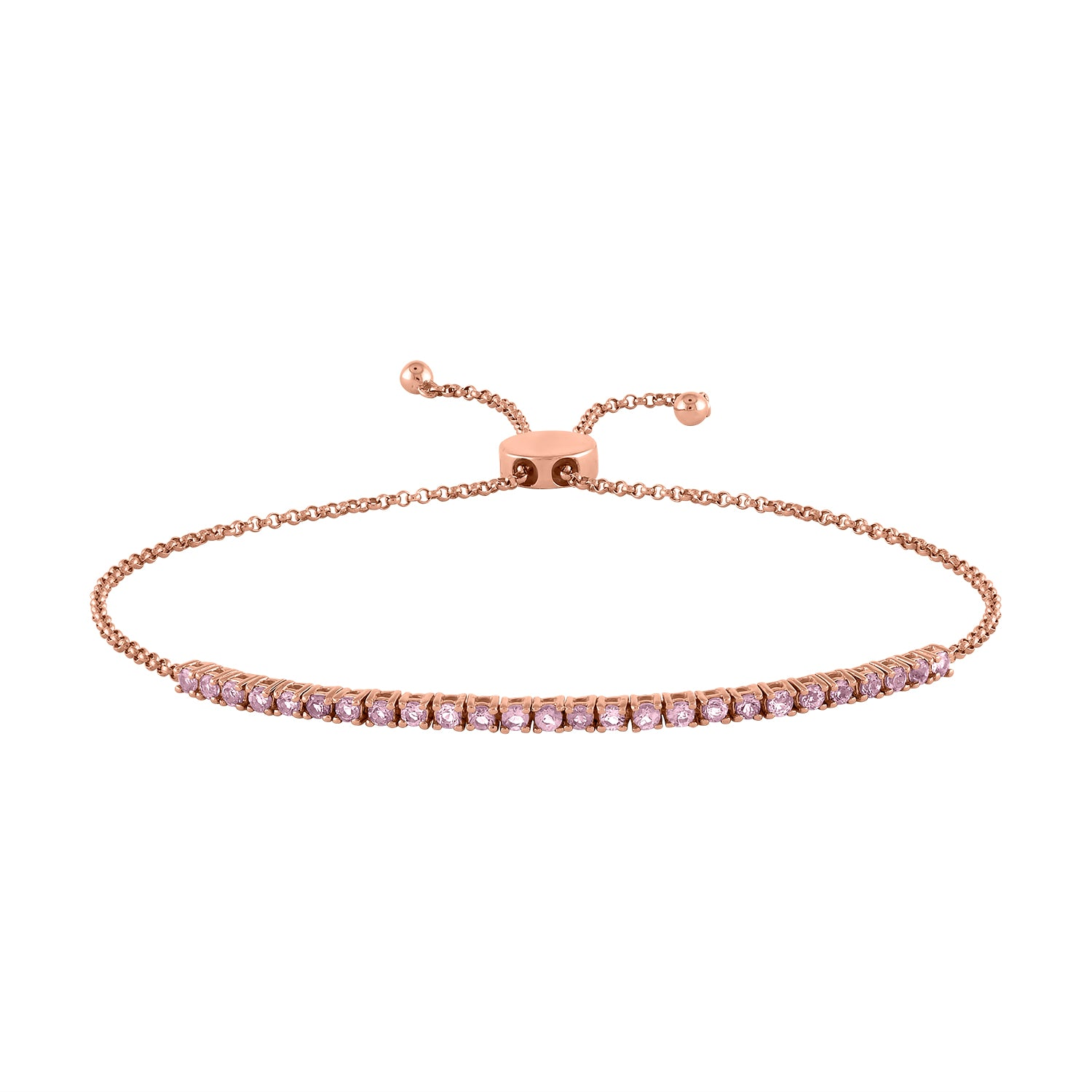26 stone tennis bracelet with bolo pull