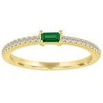 The Julia ring with emerald center