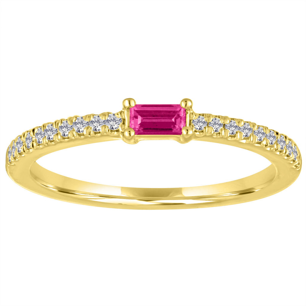 The Julia ring with ruby center