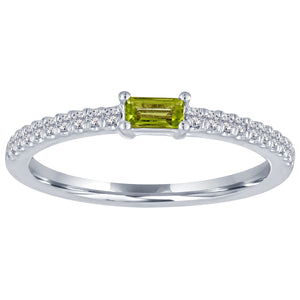 The Julia ring with peridot center
