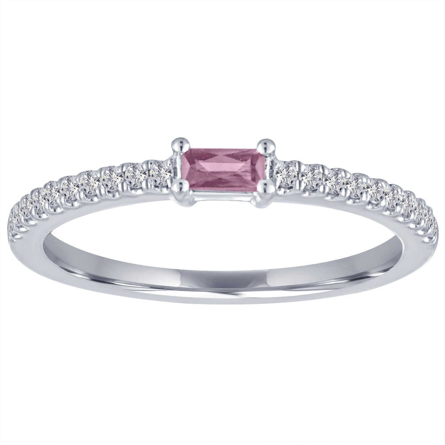 The Julia ring with pink tourmaline center