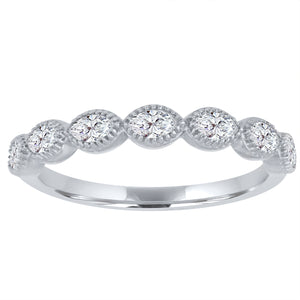 half eternity band with 7 marquis diamonds