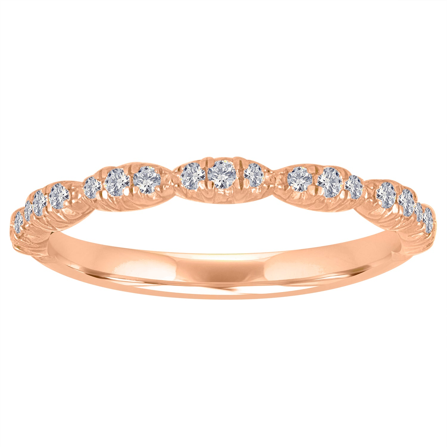 micropave scalloped band