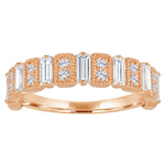 Amelia band with diamond baguettes