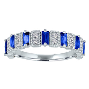 Amelia band with sapphire baguettes