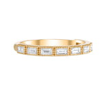 horizontal diamond baguette band