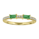Ida ring with two emerald baguettes