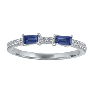Ida ring with two sapphire baguettes