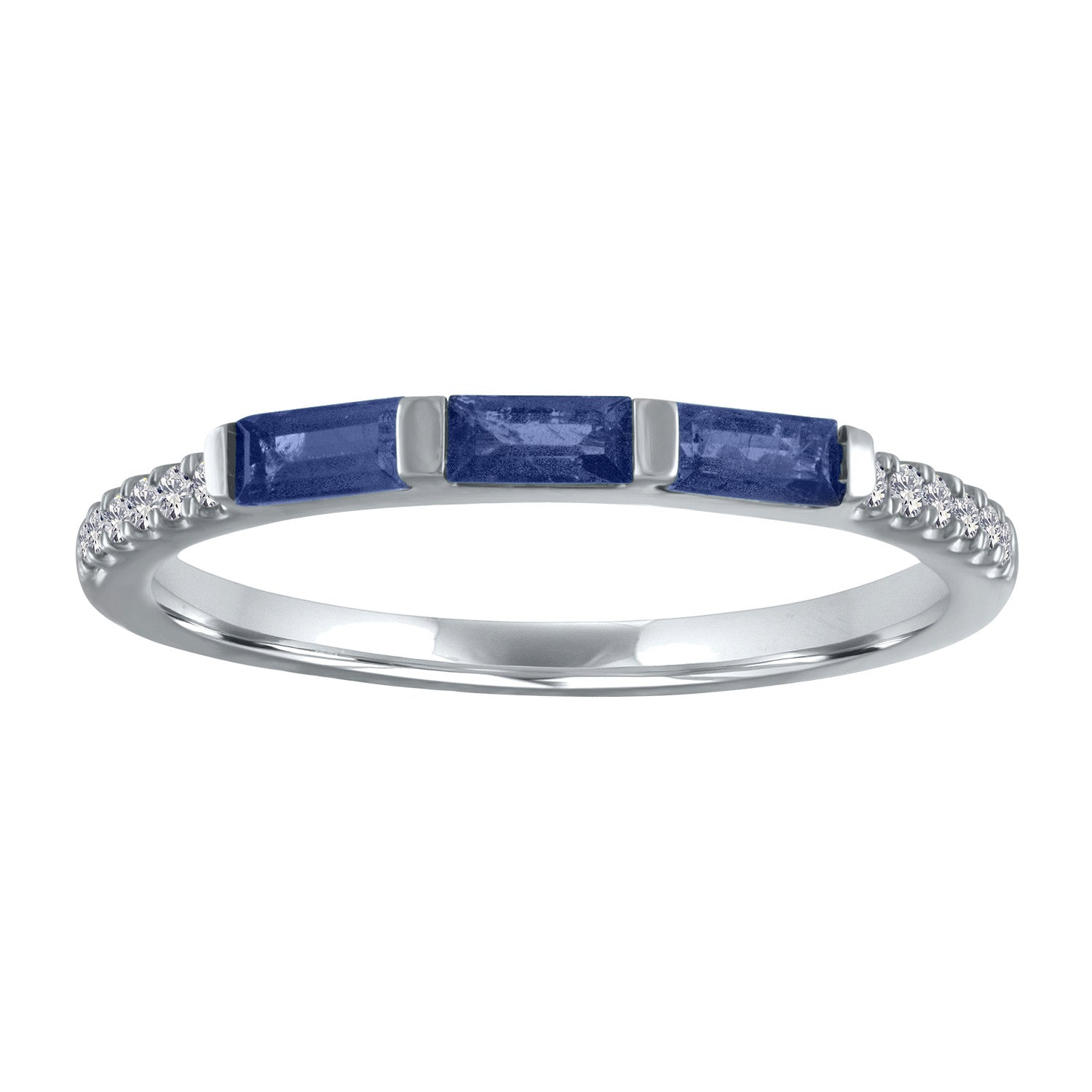 Julie ring with 3 sapphire baguettes