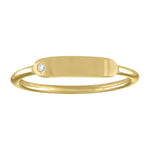 skinny signet ring with diamond