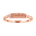 "The Twiggy -  Skinny Signet ""J'ADORE"" (Diamond)"