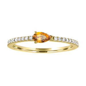 Layla ring with citrine pear