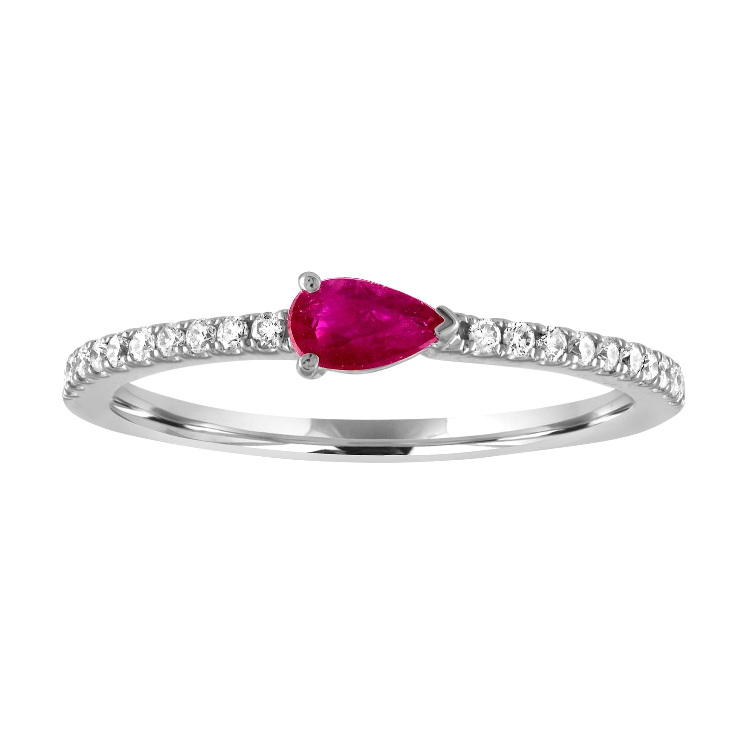 Layla ring with ruby pear