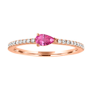 Layla ring with pink tourmaline pear